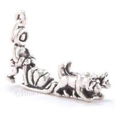 ALASKA DOG SLED Charm Pendant Iditarod Race Husky STERLING SILVER 3D 925