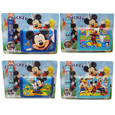 NEW MICKEY MOUSE KID CHILD ACCESSORIES WRIST WATCH & WALLET ELECTRONIC GIFT TOY