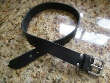 Cinturón de cuero negro de baja intensidad Choppa/Unisex
