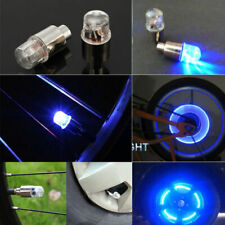 2 Pcs Blue LED Autos Wheel Tyre Tire Air Valve Stem Cap LED Light SUV Lamp Bike