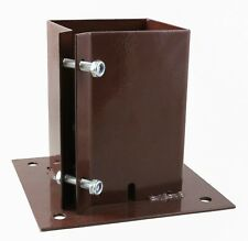 """BOLT DOWN Fence Post Arbour Holder Support Brown OR Galvanised  6 x 6""""   150 mm"""