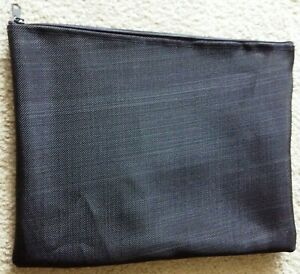 "Brand NEW!!!  5 Mesh Bags Black Zipped 10.25"" x 13"" PVC Flexible Light Sturdy"