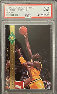 1992 1993 CLASSIC 4 SPORT Shaquille SHAQ O'Neal  GOLD PSA 9 #/9500 #318 Lakers