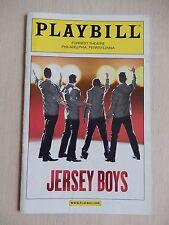 November 2010 - Forrest Theatre Playbill with Ticket - Jersey Boys - Matt Bailey