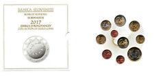 SLOVENIE Coffret BU 2017 - 10 Monnaies (dont 2 et 3 Euro commémoratives) - RARE