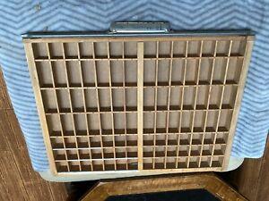 VTG Wooden Printers Drawer Letterpress Type Set Tray Shadow Box 22 X16 VERY NICE