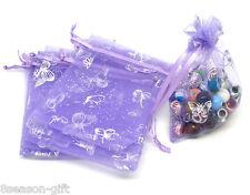 500Pcs 7x9cm Purple Butterfly Organza Wedding Gift Bags&Pouches