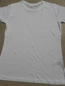 Bamboo T Shirt Size Large. Ethically Produced In White.