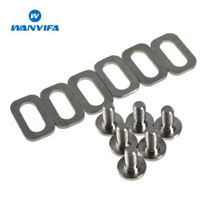 Titanium Bolts Spacers for LOOK Bike Pedals Cleats Self-locking Pedals Parts Kit