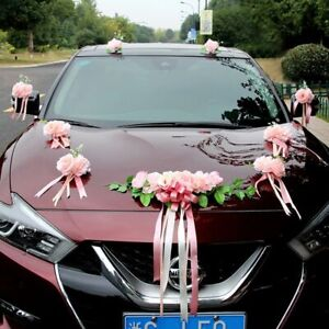 Wedding Car Flower Decoration Artificial Flower Rose Weddings Decor Silk Flowers