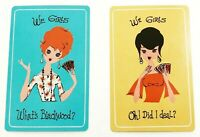Pair of Swap Playing Cards Vintage We Girls Set A