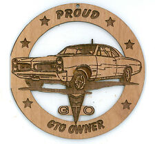 1966 Pontiac GTO Hardtop  Wood Ornament Engraved