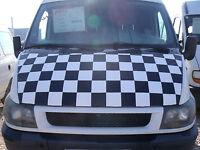 Bonnet Cover Bra / Haubenbra for Ford Transit MK6 2000 - 2005 Chequered
