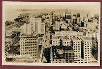 RPPC Real Photo Postcard ~ Seattle WA ~ Aerial View N From L.C. Smith Building