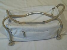 DAVIDOFF COOL WATER WOMAN BAG/ PURSE/ TOTE / CARRY ALL/ NEW/ WHITE CANVAS