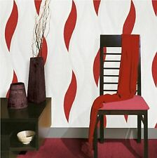 LUXURY RED WAVE EMBOSSED TEXTURED WALLPAPER E62010  BY DIRECT WALLPAPERS NEW!!!!