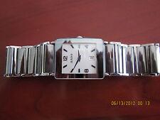 Men's Rado Integral Platinum Tone Ceramic Watch, R2048412, White Dial-Date