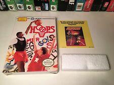 * Hoops Nintendo NES Basketball Video Game BOX ONLY w/ Foam Insert & Paperwork