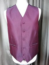 BNWT Marks & Spencer Red & Silver Thread Waistcoat - M C38-40""