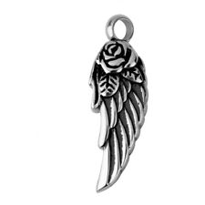 Stainless Wing Cremation Keepsake Memorial Pet Ashes Urn Necklace Pendant