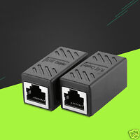 RJ45 CAT5 Cat6 Cat7 Network LAN Cable Extension Coupler Joiner Adapter Connector