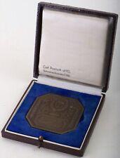 Alte Medaille Handwerkskammer Oberpfalz Regensburg Bronze Carl Poellath mit Etui