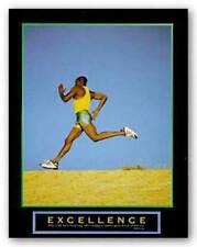 Excellence Runner Motivational African American Art Print 8x10