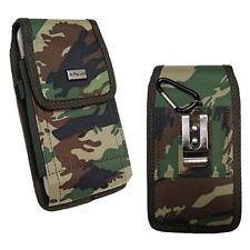 Cell Phone Pouch Tactical Holster Metal Belt Clip Loop Camouflage Case (4 sizes)