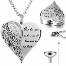 Urn Angel Wings Cremation Ashes Necklace Memorial Jewellery Keepsake Pendant