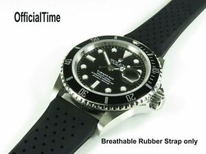 OT Rubber Strap Band fit Rolex - Submariner Daytona GMT Master Explorer Datejust