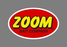 ZOOM bait decals stickers bass boat tournament sponsor fishing baits lures worms