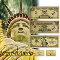 WR 1899 Series $ 1 $ 2 $ 5 Dollar Set USA Black Eagle Chief vergoldete Banknote