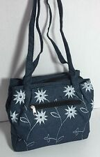 Brand New Women Denim shoulder bag purse Handbag Tote bag Double compartments