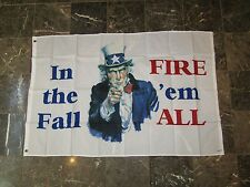 Wholesale Lot 100 3x5 In The Fall Fire 'Em All Uncle Sam USA American Flag 3'x5'