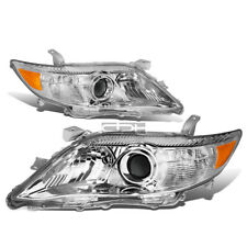 Fit 2010-2011 Toyota Camry Chrome Housing Amber Corner Projector Headlight/Lamp