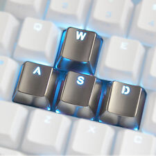 Keyset Zinc Transparent WASD Key Caps Cherry MX for Metal Mechanical Keyboard