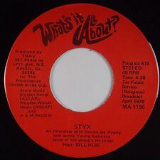STYX: Rare RELIGIOUS DJ PROMO ONLY De Young '78 Scarce RARE 45