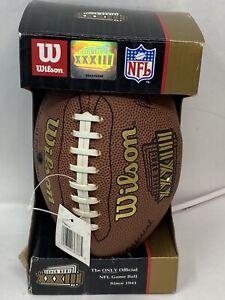 "Miniature 9""  Wilson NFL SUPER BOWL 33 XXXIII Football Broncos vs Falcons"