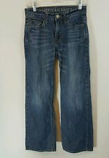 American Eagle Jeans 26x28 Mens/ Boys Low Rise Boot Cut Distressed Med Wash