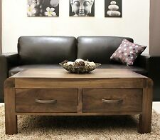 Shiro Walnut Wooden Living Room Furniture Coffee Table With 4 Storage Drawer
