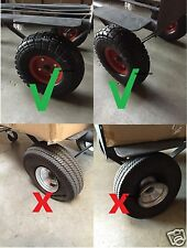 "Tubless Flat Free 10"" Tire Wheel  for Hand Truck Tire dolly with 5/8"" ID Bearing"