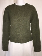 J.Crew Green Lambswool Wool Sweater Womens Winter Pullover Tunic Top Medium M