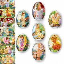 Easter Egg Wraps for 7 Hen Eggs, Pysanky Eggs Heat Shrink Sleeves,Angels #60