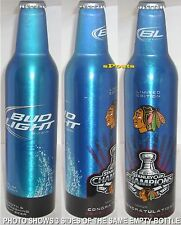 2010 NHL CHICAGO BLACKHAWKS STANLEY CUP ICE HOCKEY BUD ALUMINUM BOTTLE BEER CAN