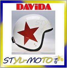 80236 CASCO DAVIDA 80-JET TWO TONE WHITE RED STAR TAGLIA L