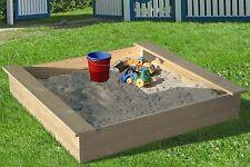 Sandkasten Holz Sandbox Sandkiste Buddelkiste mit oder ohne Abdeckhaube versch.