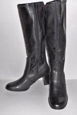 Croft & Barrow Ladies Knee High Faux Leather Zip Boots Gretchen Black 7 1/2M NEW
