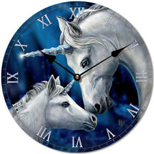 Unicorn Mother & Foal Wall Clock 30cm - Lisa Parker - Pagan / Wicca NEW & Boxed