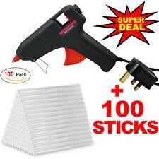 Hot Melt Glue Gun Electric with 100 Adhesive Glue Sticks Hobby Craft DIY Mini Ne