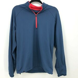 Adidas ClimaCool 1/4 Zip Layering Top Men's Size Small Blue Pink Long Sleeve
